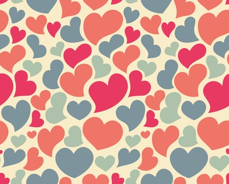Nice seamless pattern with lot of hearts Vettoriali