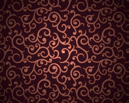 vintage grunge image: Seamless pattern con riccioli su sfondo sfumato in stile retr� Vettoriali