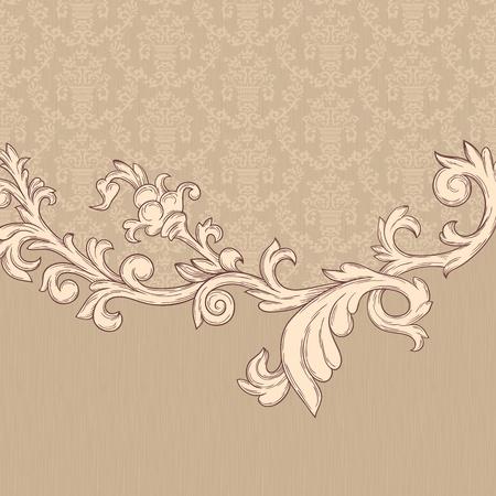 Vintage background avec un motif de damas dans le style rétro Banque d'images - 11964886