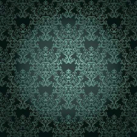 modular: Damask seamless wallpaper on dark  background. Stylish and luxury