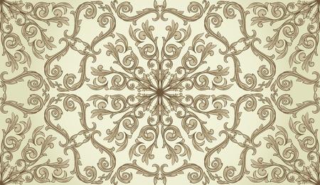 Naadloos patroon met krullen op gradient achtergrond in retro stijl