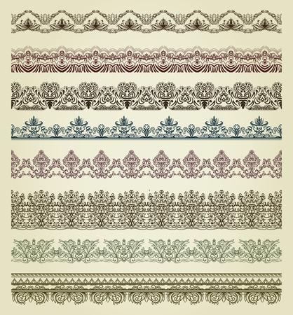 Set of vintage borders