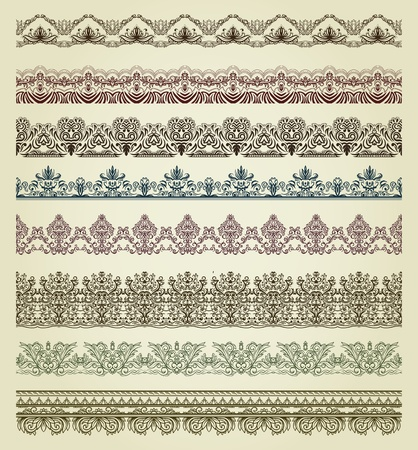 scroll border: Set of vintage borders