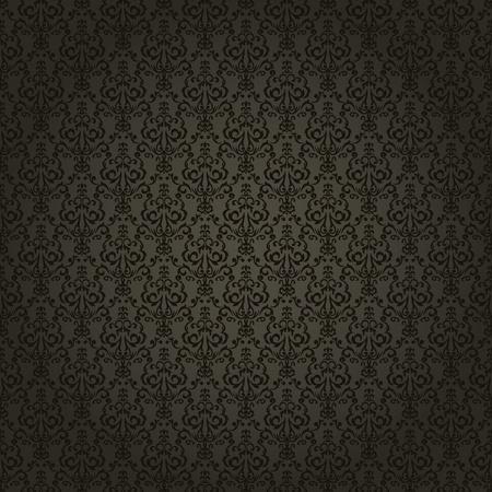 tilable: Damasco sfondo trasparente su sfondo scuro. Elegante e di lusso