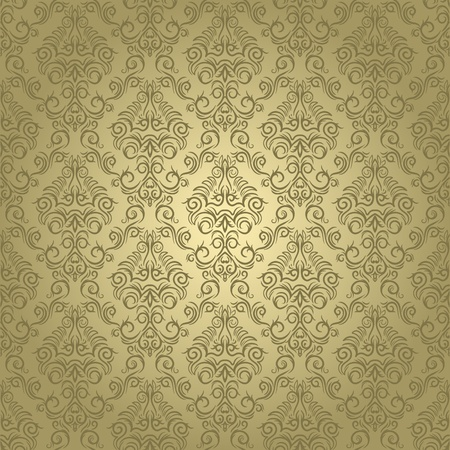 traditional: Damask seamless wallpaper on light  background. Stylish and luxury