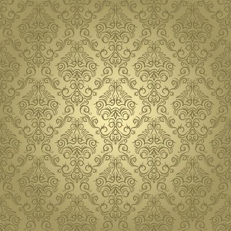 Damask seamless wallpaper on light  background. Stylish and luxury