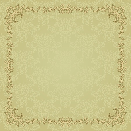 victorian wallpaper: Vintage frame. Could be used for invitation, certificate or diploma Illustration