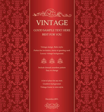 royal invitation: Abstract vintage background with floral retro elements