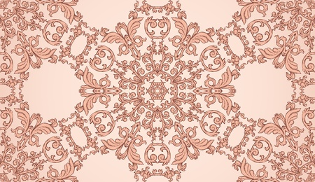 Seamless pattern with floral element in retro style Vector