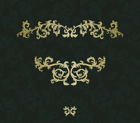 barok ornament: Vintage frame met damast naadloze achtergrond