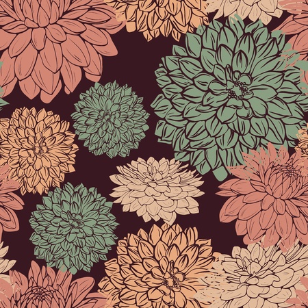 Floral seamless pattern with hand drawn flowers Stock Vector - 12484498