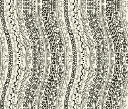 Seamless wallpaper in retro style with lines Çizim