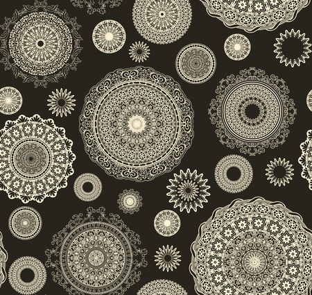 ornamental background: vintage seamless pattern  with circles