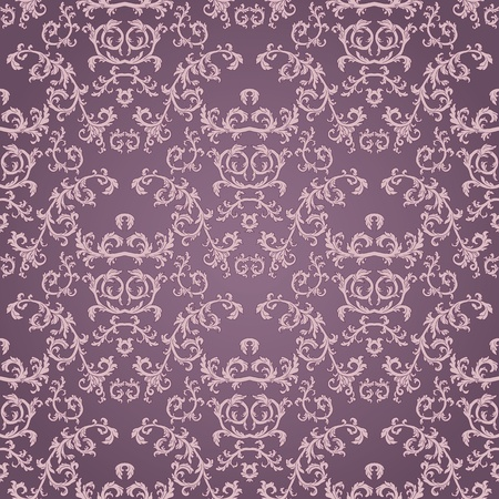 Seamless pattern con elemento floreale in stile retrò