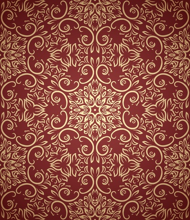 vintage seamless pattern  on gradient background Vector