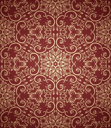 vintage seamless pattern  on gradient background Vector