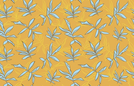 color seamless background with leafs Vector