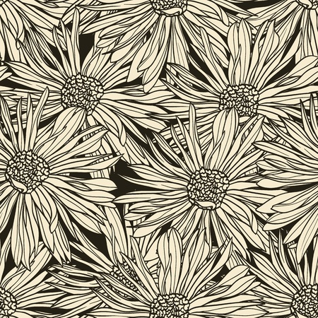 Floral seamless pattern with hand drawn flowers. Stock Vector - 12806801