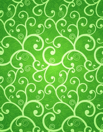 Spring seamless background on green gradient background Vector