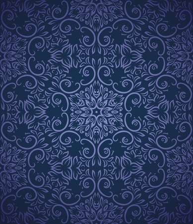 victorian wallpaper: Seamless pattern with gradient background