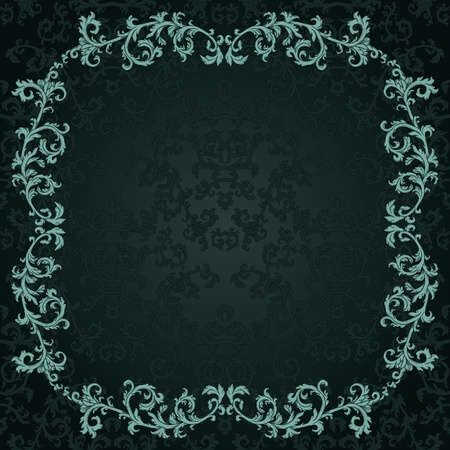 Vintage background with damask pattern in retro style Stock Vector - 13106798