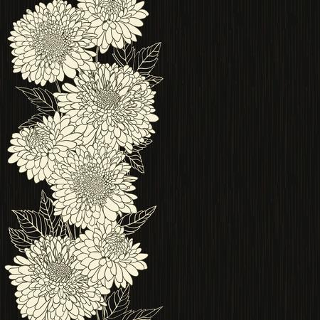 Floral frame met de hand getekende bloemen