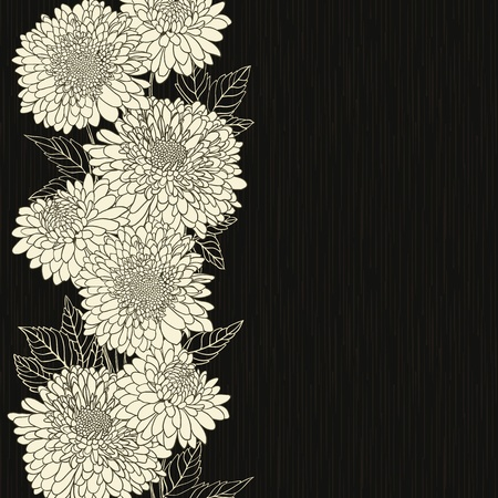 sketch pattern: Marco floral con flores dibujadas a mano