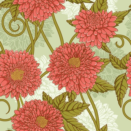 Floral seamless pattern with hand drawn flowers. Illustration