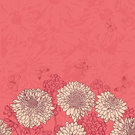 Floral frame avec des fleurs dessinés à la main Banque d'images - 13204731