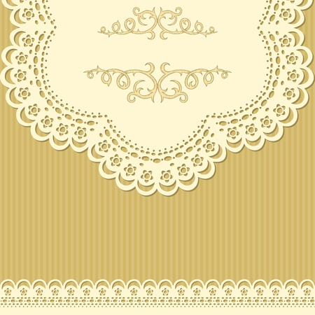 Vintage background with gentle lace Stock Vector - 13204722