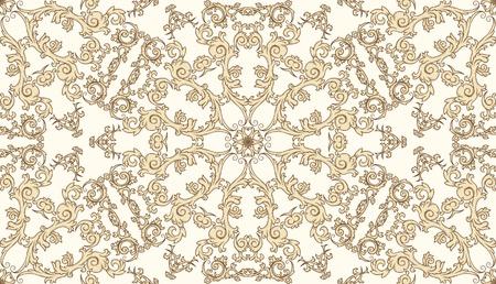 vintage naadloze patroon op verloop achtergrond Stock Illustratie