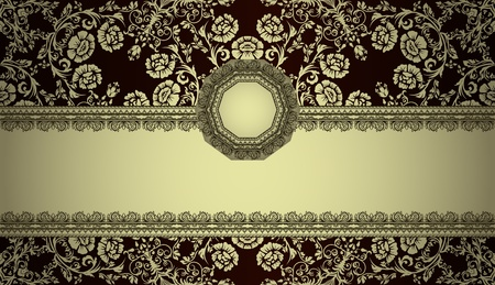 frame: vintage frame on damask background