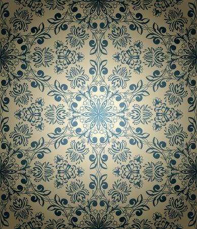 Millésime papier peint sans soudure dans le style rétro Banque d'images - 13254922