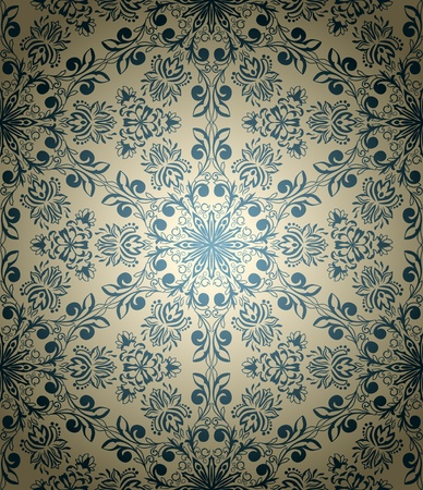 vintage seamless wallpaper in retro style Vector