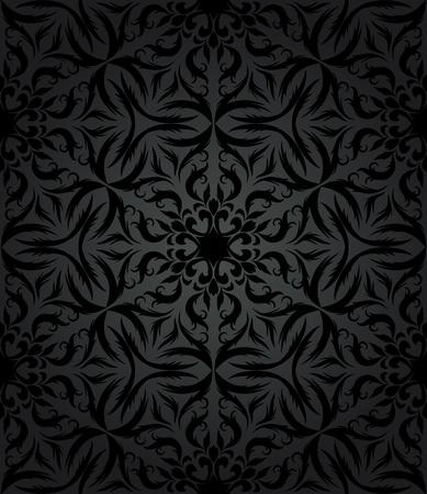 レトロなスタイルのヴィンテージのシームレスな壁紙  イラスト・ベクター素材