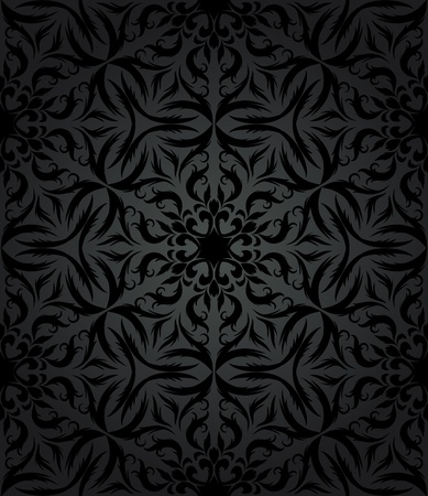 arabesque antique: vintage seamless wallpaper in retro style