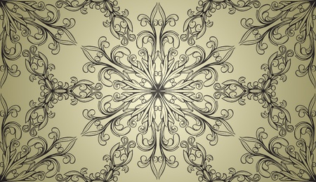vintage seamless wallpaper in retro style Stock Vector - 13254930