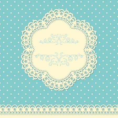 lace: Fondo retro con encajes y papel tapiz doted Vectores