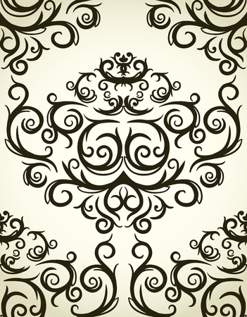 modular: Damask seamless pattern . Could be used as repeating wallpaper, textile, wrapping paper, background, etc. Illustration