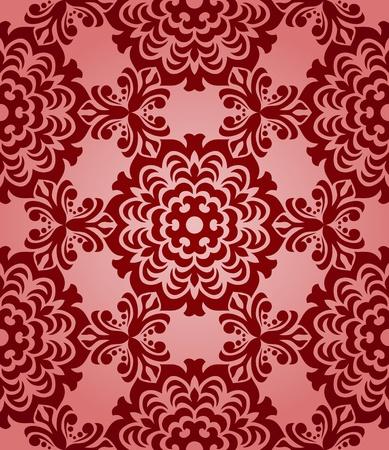 Romantische naadloze behang. Kan worden gebruikt als achtergrond, naadloze achtergrond, inpakpapier, enz. Stock Illustratie
