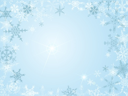 Christmas frame with snowflakes Stock Vector - 13294796