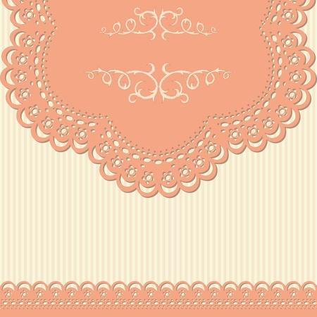 lace: Fondo retro con encajes y papel tapiz rayado