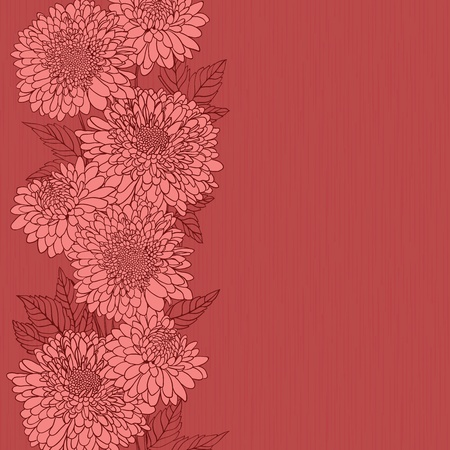 Floral background with hand drawn flowers. Stock Illustratie