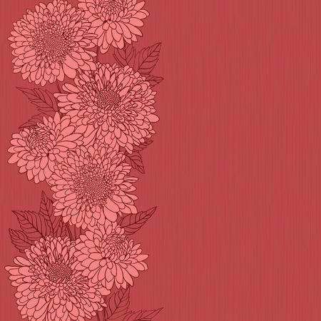 romanticismo: Sfondo floreale con fiori disegnati a mano.