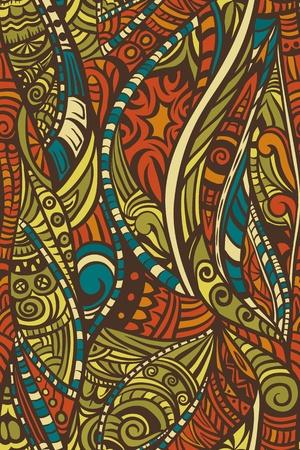 Abstract pattern senza soluzione di continuità in stile etnico