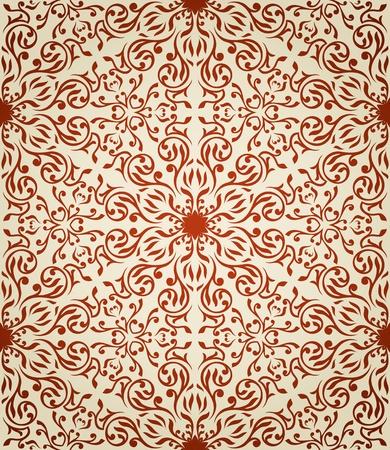 Seamless wallpaper dans le style rétro Banque d'images - 13335024