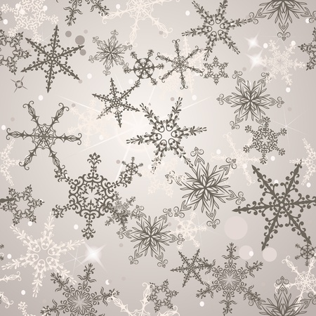 christmas wrapping: Seamless pattern with snowflakes