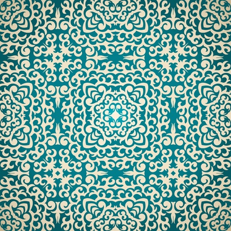 Seamless wallpaper in retro style Vector