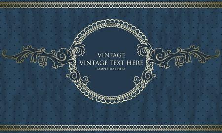 Vintage frame with polka-dot arrière-plan Banque d'images - 13510575
