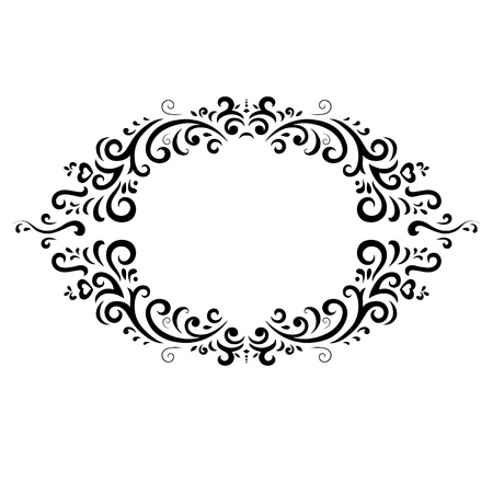 vintage: vintage frame on white background Illustration